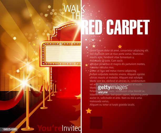 Gold and red background template with room for text