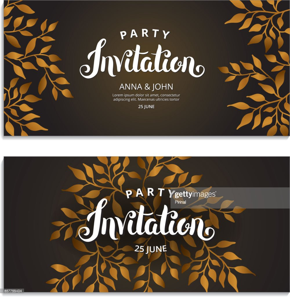 Gold autumn floral invitation vector art getty images gold autumn floral invitation vector art stopboris Images