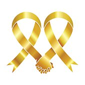 Gold awareness ribbon