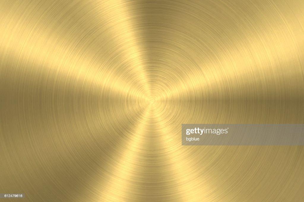 Gold background - Circular Brushed Metal Texture : Stock-Illustration