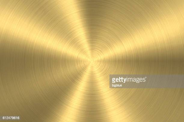gold background - circular brushed metal texture - sheet metal stock illustrations, clip art, cartoons, & icons