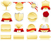 Gold Badges, Seals and Scrolls