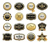 Gold Badges Set