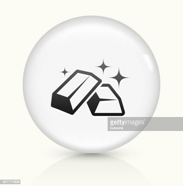 Gold Bars icon on white round vector button