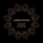 Gold black luxury pattern frame