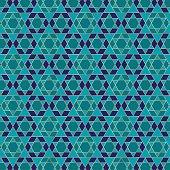 gold blue jewish star pattern