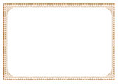 Gold Border for certificate victorian style with line