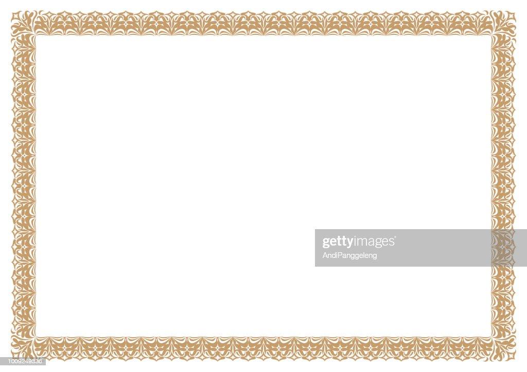 Gold Border for certificates