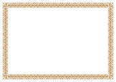 Gold Border for certificates