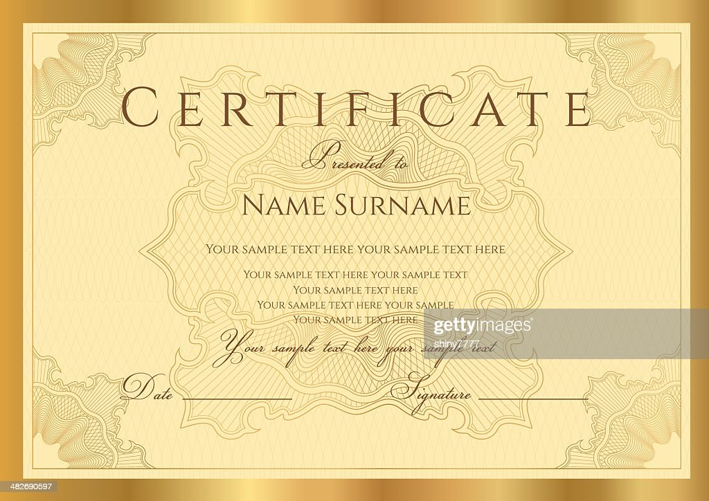 Golddiplomcoupon Zertifikat Vektorgrafik | Getty Images