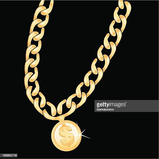ilustraciones, imágenes clip art, dibujos animados e iconos de stock de cadena de oro - cadena