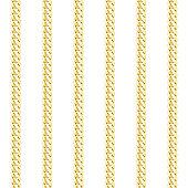 Gold Chain vertical stripe vector seamless pattern