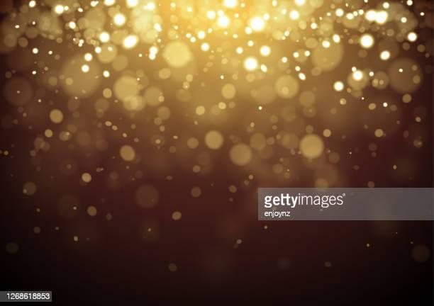 gold weihnachten glitzer design hintergrund - gold stock-grafiken, -clipart, -cartoons und -symbole