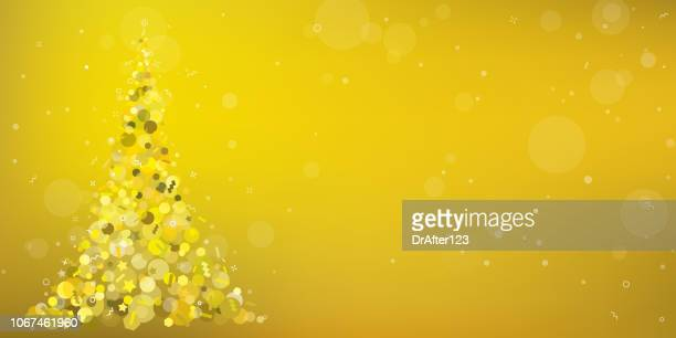 gold christmas tree background horizontal - gala stock illustrations