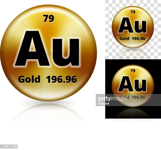 Gold Circle Element Background Set