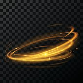 gold circle light effect
