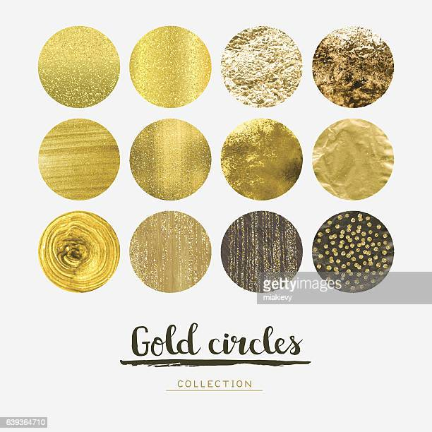 gold circles - gold coloured stock illustrations