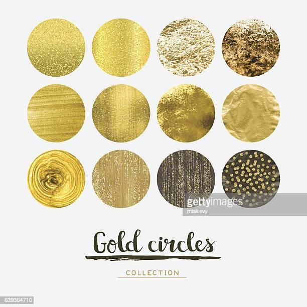 gold circles - luxury stock illustrations