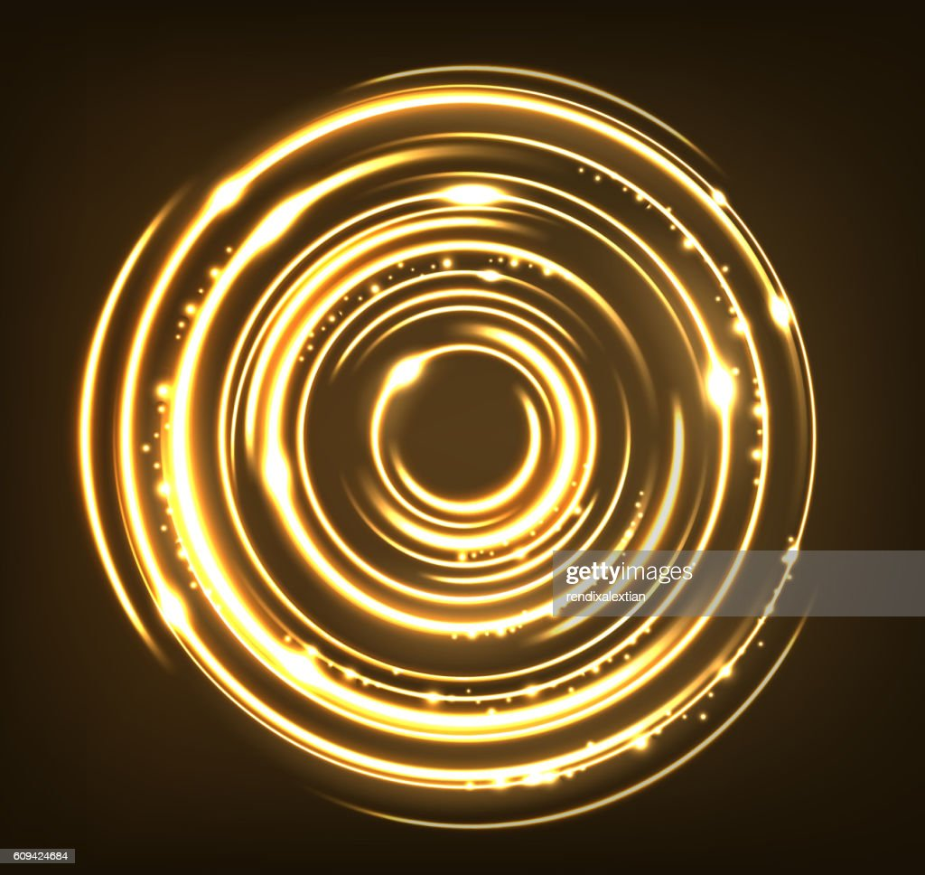 Gold circles with sparks background