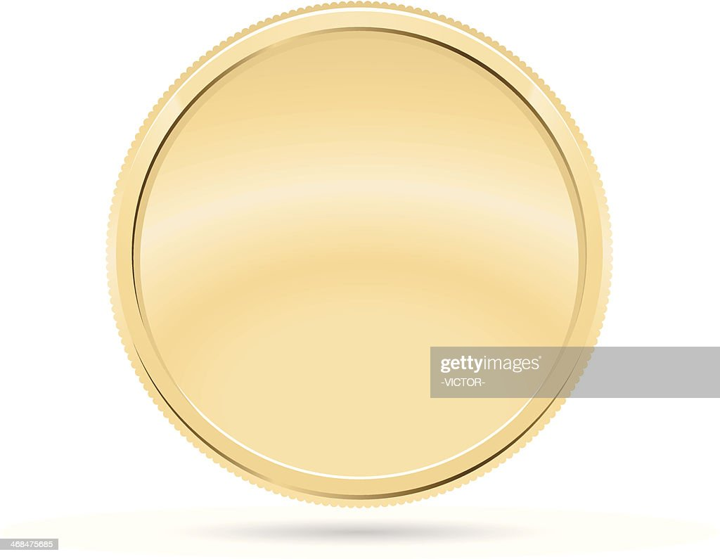 Gold Coin, Medal : stock illustration