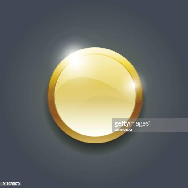 goldene münze - erster platz stock-grafiken, -clipart, -cartoons und -symbole