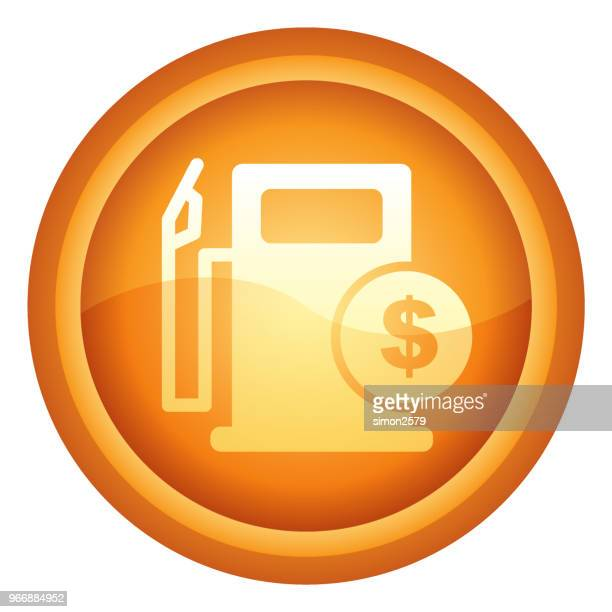 gold colored fuel prices flat design icon - gas prices stock illustrations, clip art, cartoons, & icons
