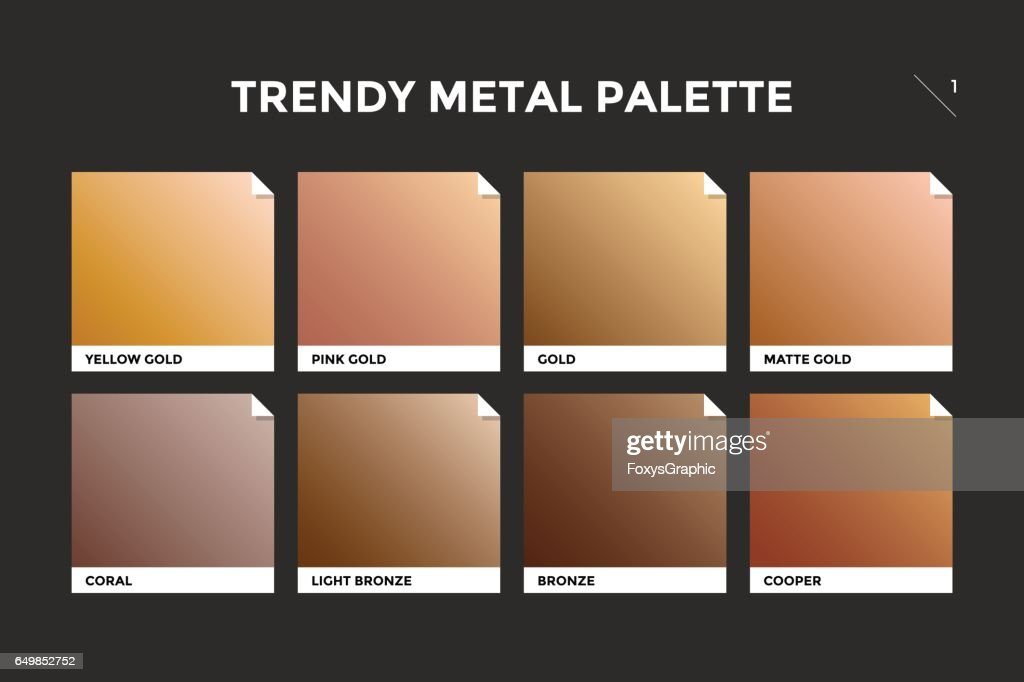 Gold, copper and bronze gradient template