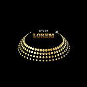 Gold crown logo concept