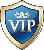 VIP Gold Crown Shield