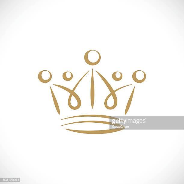 stockillustraties, clipart, cartoons en iconen met gold crown - kroon hoofddeksel