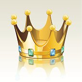 Gold crown with jewelry