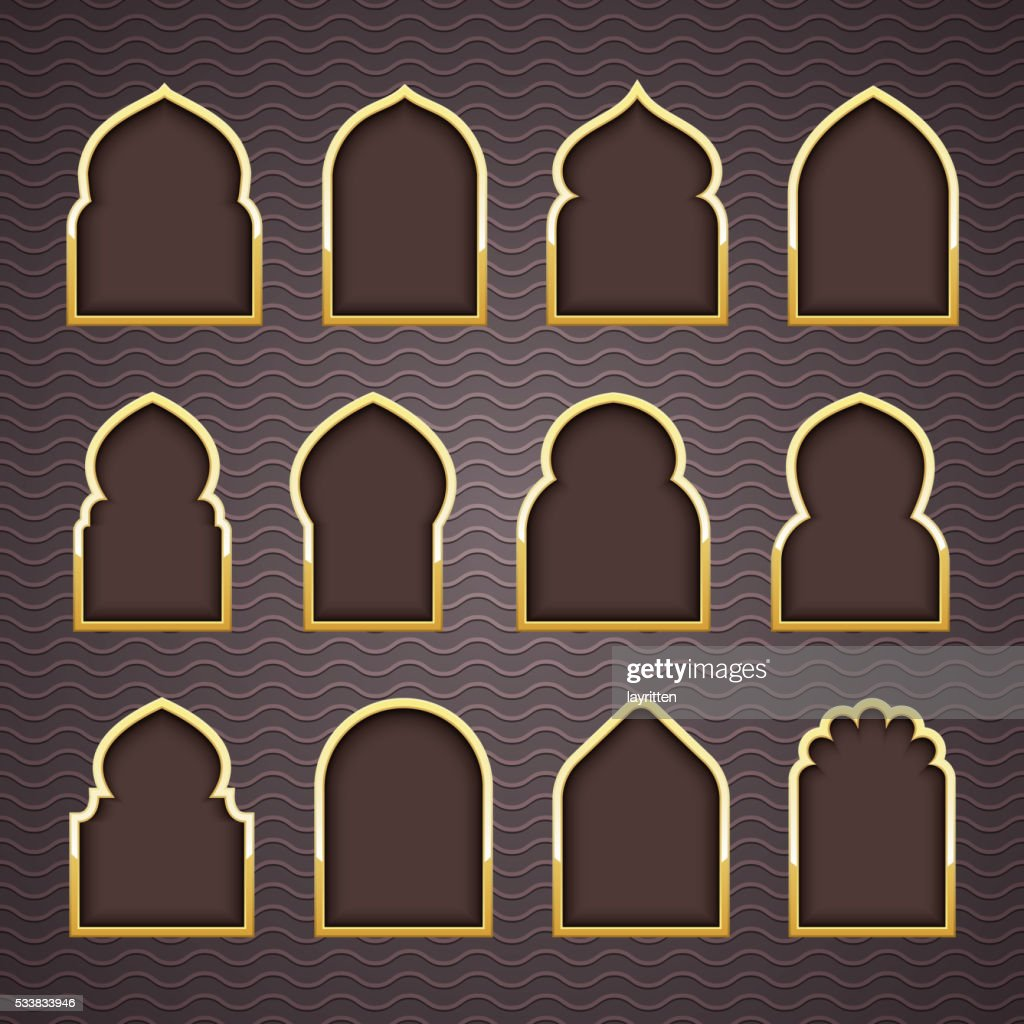 Gold Design Arab Window Ramadan Kareem High-Res Vector ... on jerusalem window, jesus window, valentines day window, thank you window, fashion window, new year window,