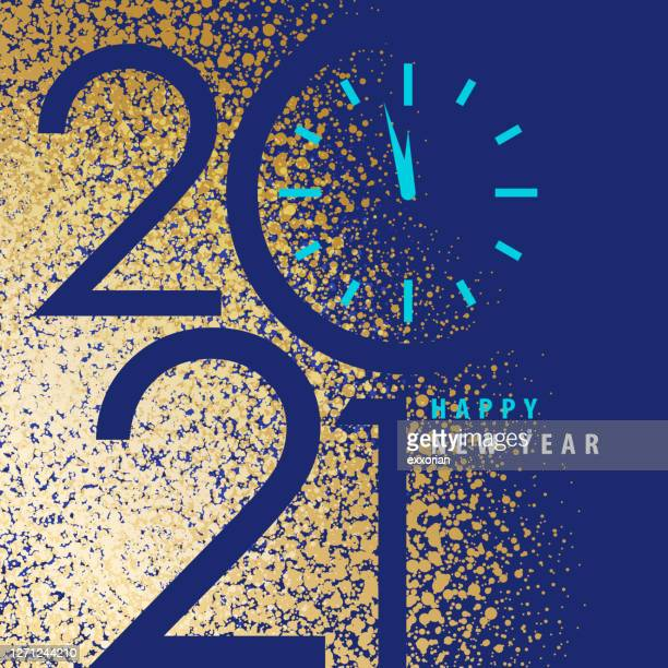 gold dust 2021 new year's eve - 2021 stock illustrations