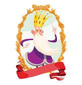 Gold emblem, funny old little king