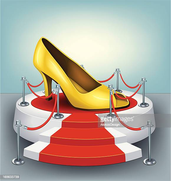 Gold female shoes