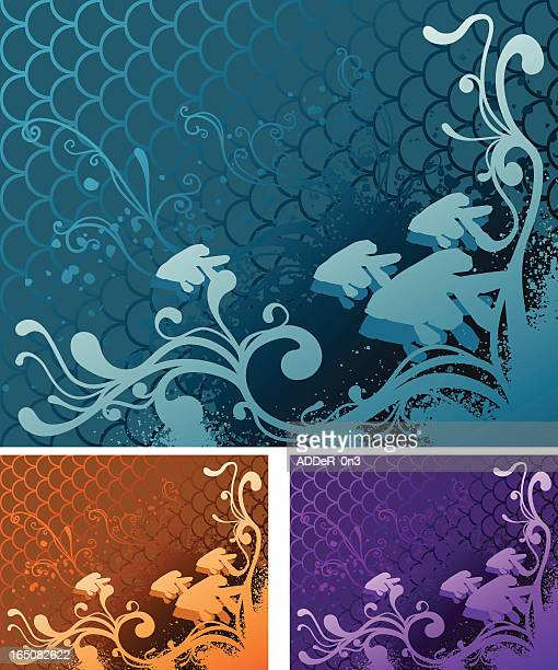 gold fish wallpaper - animal scale stock illustrations, clip art, cartoons, & icons