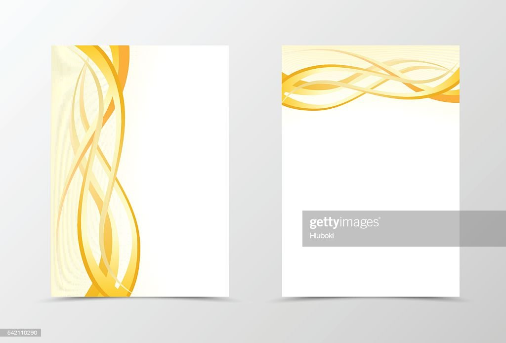 gold flyer template design ベクトルアート getty images