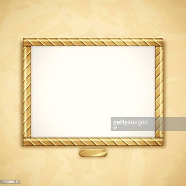 ゴールドフレーム - 記念の盾点のイラスト素材/クリップアート素材/マンガ素材/アイコン素材