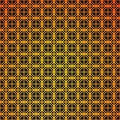 Gold geometric retro abstract seamless cube pattern. Art deco. Background.