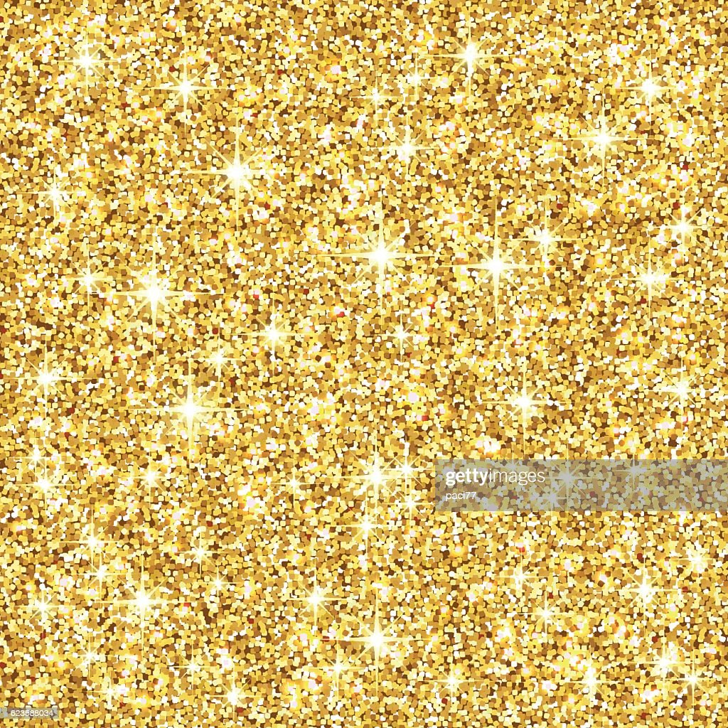 Glitter Gold: Gold Glitter Background Vector Art