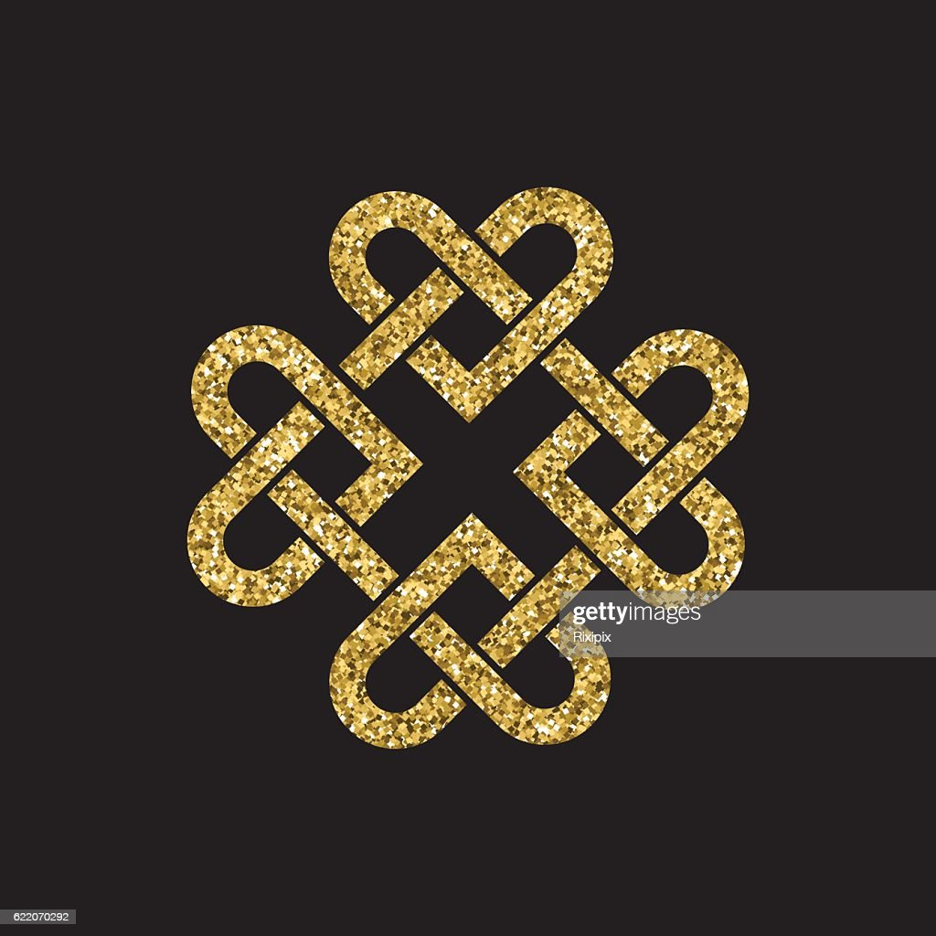 Gold glitter celtic knot