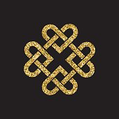 Gold glitter celtic knot