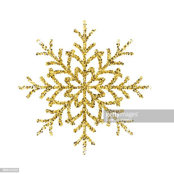 Gold Glitter Foil Christmas Ornament - Snowflake