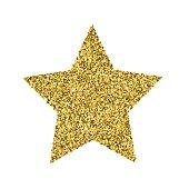 Gold Glitter Foil Christmas Ornament - Star
