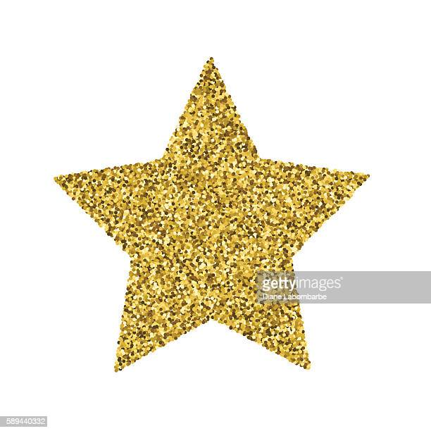 Gold Glitter Foil Christmas Ornament - Star