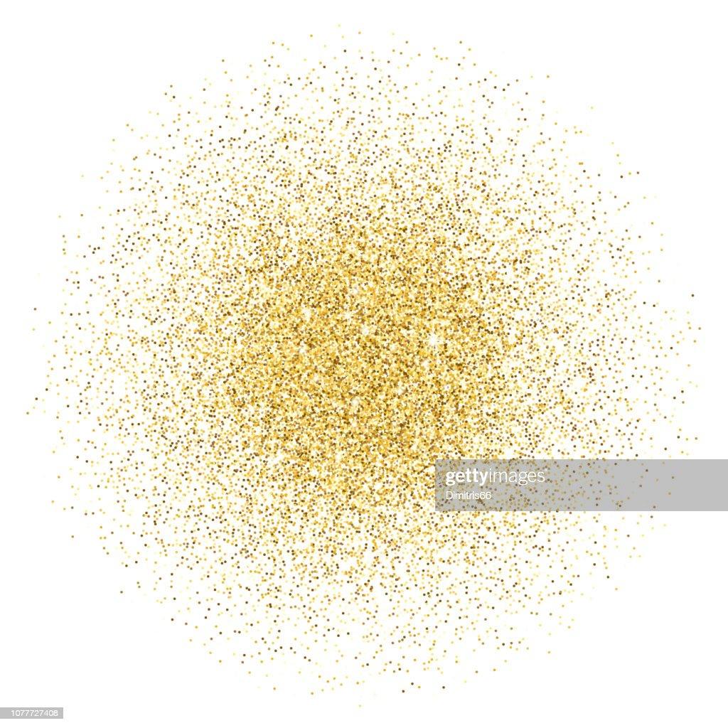 Gold glitter gradient stack : stock illustration