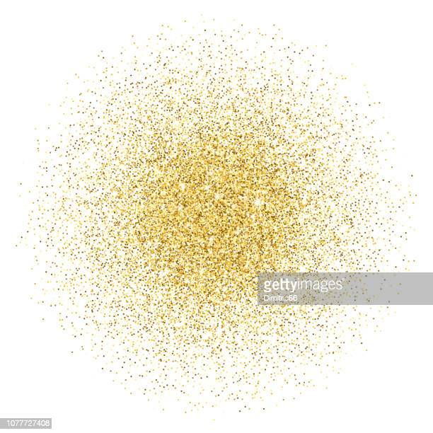 gold glitter gradient stack - white background stock illustrations