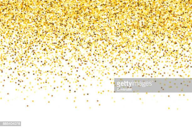 Gold glitter gradient texture background - Gold glitter stars