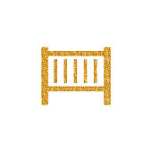 Gold Glitter Icon - Baby bed