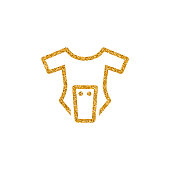 Gold Glitter Icon - Baby clothes
